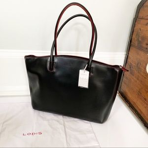 NWT Lodis Audrey Milano Leather Tote Bag